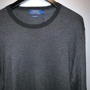 Polo Ralph Lauren waffle knit cotton shirt NWT